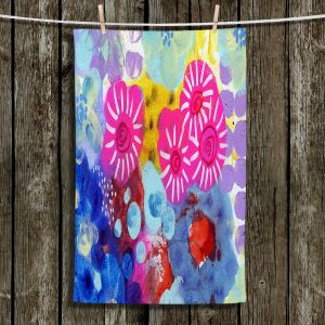 Unique Bathroom Towels   Robin Mead - Jeanie   Floral Pattern Flowers Nature