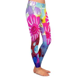 Casual Comfortable Leggings | Robin Mead - Jeanie | Floral Pattern Flowers Nature