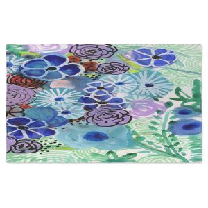 Artistic Pashmina Scarf | Robin Mead - Jenny | Floral Pattern Flowers Nature