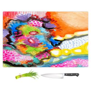 Artistic Kitchen Bar Cutting Boards | Robin Mead - Jest | Floral Flower Colorful