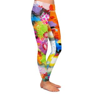 Casual Comfortable Leggings | Robin Mead - Jest | Floral Flower Colorful