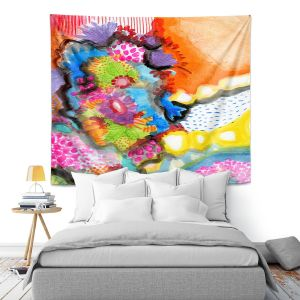 Artistic Wall Tapestry | Robin Mead - Jest | Floral Flower Colorful