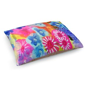 Decorative Dog Pet Beds | Robin Mead - Joni | Abstract colors flowers nature