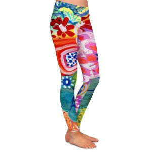 Casual Comfortable Leggings | Robin Mead - Jovial | Floral Flower Colorful