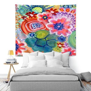 Artistic Wall Tapestry   Robin Mead - Jovial   Floral Flower Colorful