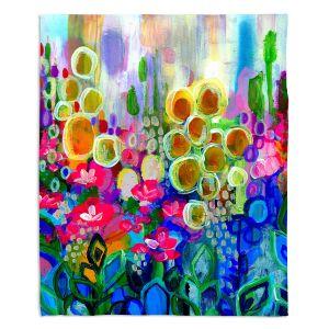 Decorative Fleece Throw Blankets | Robin Mead - Joy and Wonder | Nature Flowers