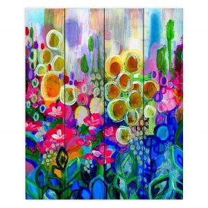 Decorative Wood Plank Wall Art   Robin Mead - Joy and Wonder   Nature Flowers