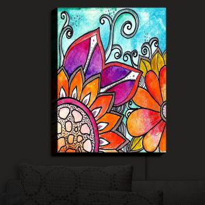 Nightlight Sconce Canvas Light | Robin Mead - Jubilant B | Flowers