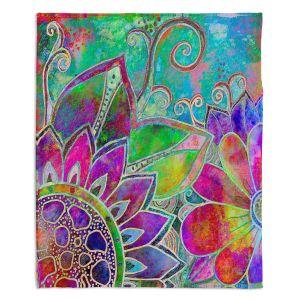 Decorative Fleece Throw Blankets | Robin Mead - Jubilant