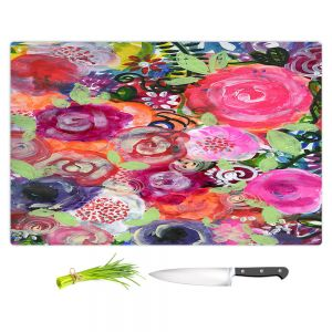 Artistic Kitchen Bar Cutting Boards | Robin Mead - June | Floral Pattern Flowers Nature