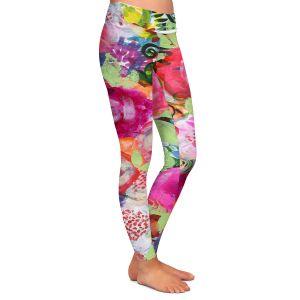 Casual Comfortable Leggings | Robin Mead - June | Floral Pattern Flowers Nature