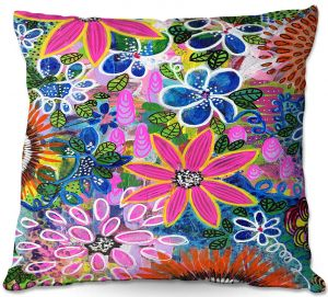 Unique Outdoor Pillow 18X18 from DiaNoche Designs by Robin Mead - Jungle Love
