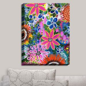 Decorative Canvas Wall Art | Robin Mead - Jungle Love | Flowers Colorful