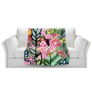 Artistic Sherpa Pile Blankets | Robin Mead - Luscious | flower plant pattern