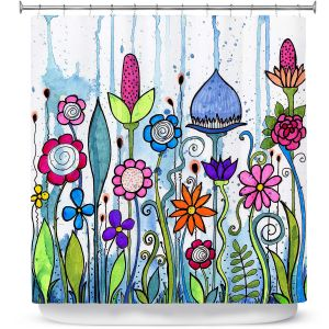 Unique Shower Curtains 69w x 72h inches from DiaNoche Designs by Robin Mead - Misty