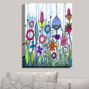 Decorative Canvas Wall Art | Robin Mead - Misty | Garden Flowers Plants