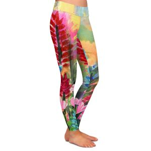 Casual Comfortable Leggings | Robin Mead - Petrichor | flower field nature painterly