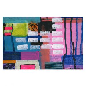 Decorative Floor Coverings   Robin Mead - Pink Houses 1   Abstract Square Shapes