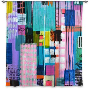 Decorative Window Treatments | Robin Mead - Pink Houses 2 | Abstract Square Shapes