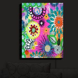 Nightlight Sconce Canvas Light | Robin Mead - Pizazz I | Floral Pattern Colorful