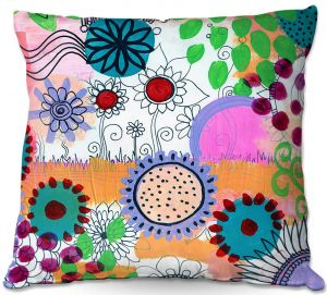 Decorative Outdoor Patio Pillow Cushion | Robin Mead - Pizazz ll