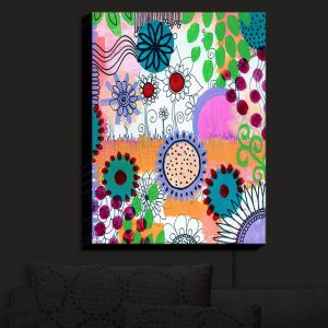 Nightlight Sconce Canvas Light | Robin Mead - Pizazz II | Floral Pattern Colorful