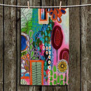 Unique Bathroom Towels | Robin Mead - Rainforest | Floral Pattern Flowers Nature