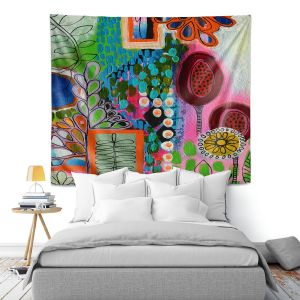Artistic Wall Tapestry | Robin Mead - Rainforest | Floral Pattern Flowers Nature