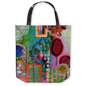 Unique Shoulder Bag Tote Bags | Robin Mead - Rainforest | Floral Pattern Flowers Nature
