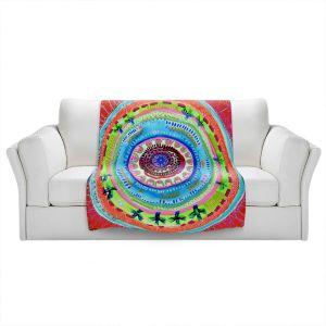 Artistic Sherpa Pile Blankets | Robin Mead - Reality | Geometric Pattern
