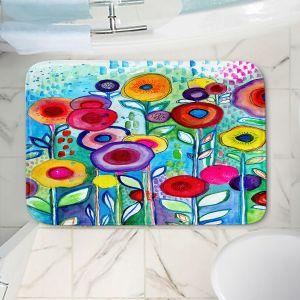 Decorative Bathroom Mats | Robin Mead - Rendevous | Floral Flower Colorful
