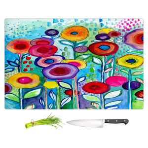 Artistic Kitchen Bar Cutting Boards | Robin Mead - Rendevous | Floral Flower Colorful