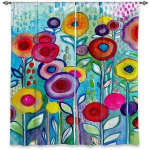Decorative Window Treatments | Robin Mead - Rendevous | Floral Flower Colorful