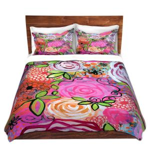 Artistic Duvet Covers and Shams Bedding | Robin Mead - Rosegarden | flower pattern repetition