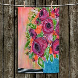 Unique Bathroom Towels | Robin Mead - Ruby Reds | flower still life