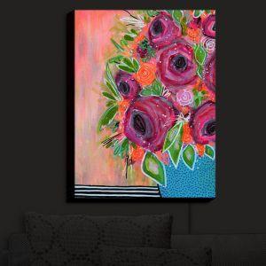Nightlight Sconce Canvas Light   Robin Mead - Ruby Reds