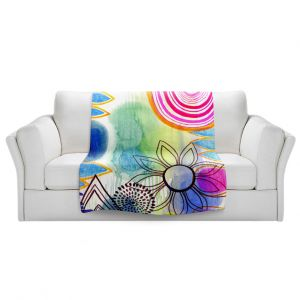 Artistic Sherpa Pile Blankets | Robin Mead - Shape of Things
