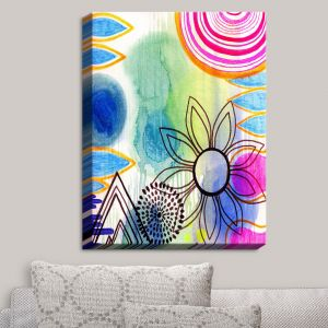 Decorative Canvas Wall Art | Robin Mead - Shape of Things | Flower Shapes Patterns