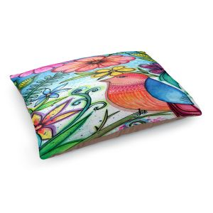 Decorative Dog Pet Beds | Robin Mead - Simple Blessings | bird flower nature plants