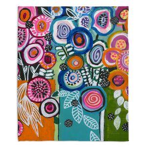 Artistic Sherpa Pile Blankets | Robin Mead - Still Life 3 | flower vase geometrc