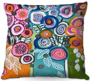 Decorative Outdoor Patio Pillow Cushion | Robin Mead - Still Life 3 | flower vase geometrc