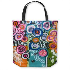 Unique Shoulder Bag Tote Bags | Robin Mead - Still Life 3 | flower vase geometrc