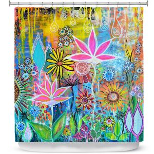 Unique Shower Curtain 69w x 72h inches from DiaNoche Designs by Robin Mead - Sundance