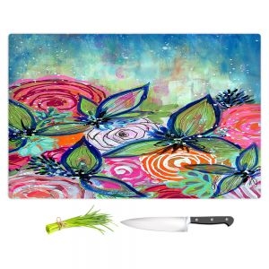 Artistic Kitchen Bar Cutting Boards | Robin Mead - Sundrenched | flower garden floral
