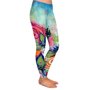 Casual Comfortable Leggings | Robin Mead - Sundrenched | flower garden floral