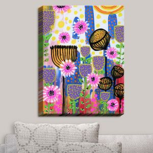 Decorative Canvas Wall Art | Robin Mead - Transformation | Flowers Patterns Colorful