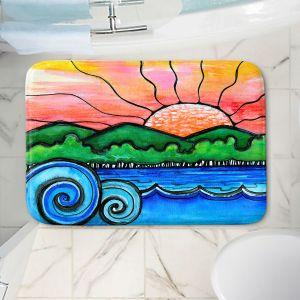 Decorative Bathroom Mats   Robin Mead - Tropical Morning   Landscape Lakes Mountains Sun