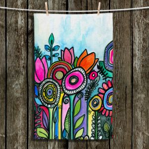 Unique Hanging Tea Towels | Robin Mead - Tuesdays Best | Nature Flowers