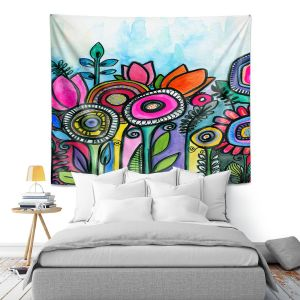 Artistic Wall Tapestry   Robin Mead - Tuesdays Best   Nature Flowers