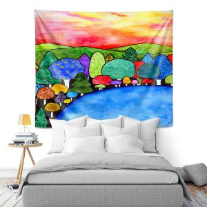 Artistic Wall Tapestry | Robin Mead - Vacation | Landscape Forest Mountains